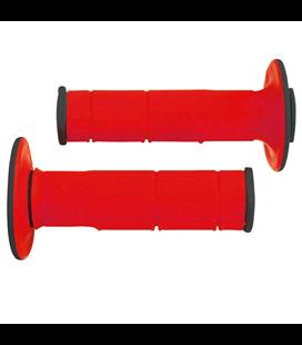 PUÑOS RTECH RACING DOBLE COMPUESTO (ROJOS/118 mm)