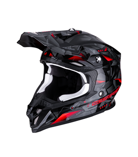 SCORPION VX-16 EVO AIR PUNCH NEGRO PLATA ROJO