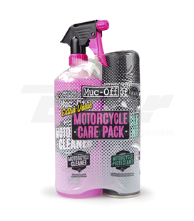 KIT DUO DE CUIDADO MOTO (MOTORCYCLE PROTECTANT + CLEANER) MUC-OFF CARE PACK