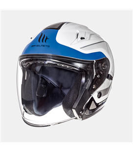CASCO MT AVENUE SV CROSSROAD BLANCO PERLA/AZUL BRILLO