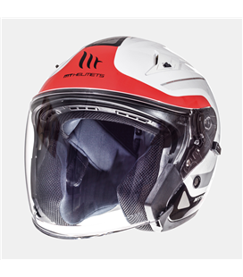 CASCO MT AVENUE SV CROSSROAD BLANCO PERLA/ROJO BRILLO