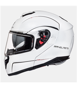 CASCO MT ATOM SV SOLID BLANCO PERLADO BRILLO