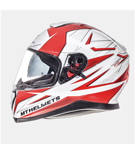 CASCO MT THUNDER 3 SV EFFECT BLANCO PERLADO/ROJO BRILLO