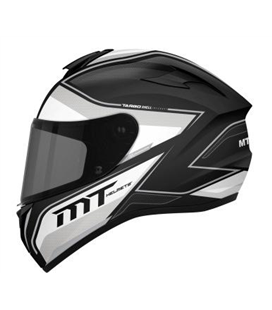 CASCO MT TARGO INTERACT A8 GRIS PERLA BRILLO