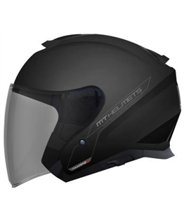 CASCO MT THUNDER 3 SV JET SOLID A1 NEGRO BRILLO