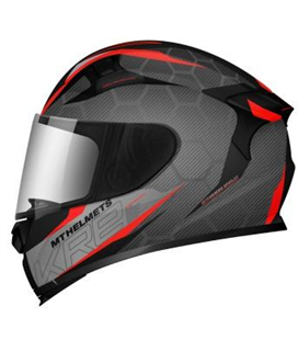 CASCO MT KRE SNAKE CARBON 2.0 A5 ROJO BRILLO