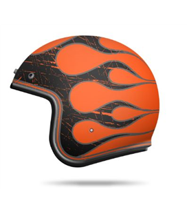 CASCO MT LE MANS 2 SV FLAMING A0 NARANJA FLUOR BRILLO