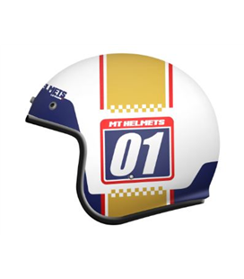 CASCO MT LE MANS 2 SV NUMBERPLATE A0 ORO BRILLO