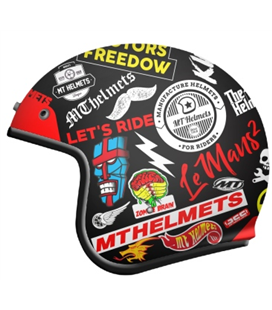 CASCO MT LE MANS 2 SV ANARCHY A1 NEGRO MATE