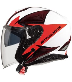 CASCO MT THUNDER 3 SV JET WING A1 ROJO PERLA BRILLO