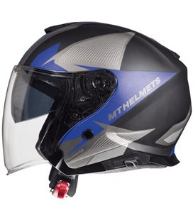 CASCO MT THUNDER 3 SV JET WING C6 AZUL MATE