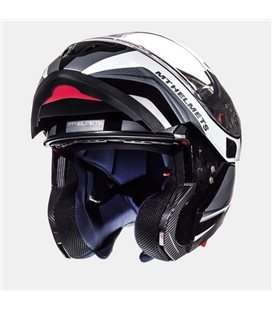 CASCO MT ATOM SV TARMAC NEGRO MATE/BLANCO BRILLO
