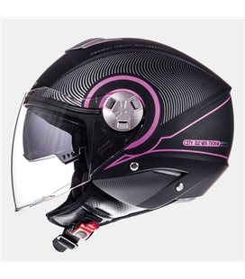 CASCO MT CITY ELEVEN SV TRON NEGRO MATE/FUCSIA