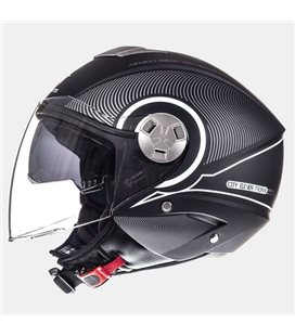 CASCO MT CITY ELEVEN SV TRON NEGRO MATE/BLANCO