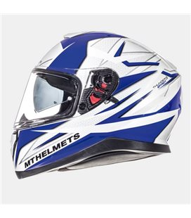CASCO MT THUNDER 3 SV EFFECT BLANCO PERLADO/AZUL BRILLO