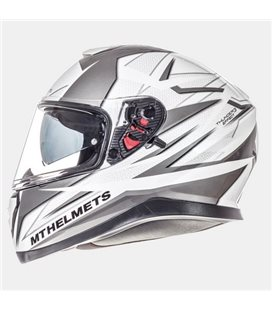 CASCO MT THUNDER 3 SV EFFECT BLANCO PERLADO/PLATA/ANTRACITA BRILLO