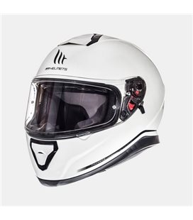 CASCO MT THUNDER 3 SV SOLID BLANCO PERLADO BRILLO