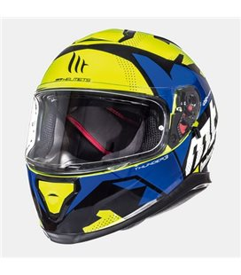 CASCO MT THUNDER 3 SV TORN AMARILLO FLUOR/AZUL BRILLO