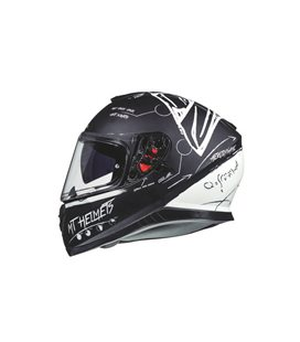 CASCO MT THUNDER 3 SV BOARD NEGRO/BLANCO MATE