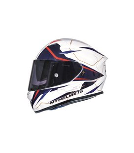 CASCO MT KRE SV INTREPID B2 ROJO FLUOR PERLA BRILLO