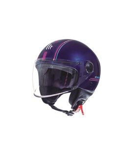 CASCO MT STREET ENTIRE J4 ROSA FLUOR BRILLO