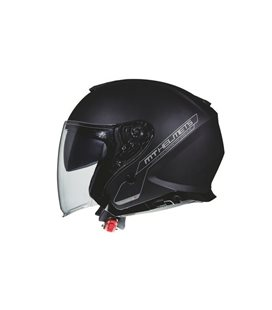 CASCO MT THUNDER 3 SV JET SOLID A1 NEGRO MATE