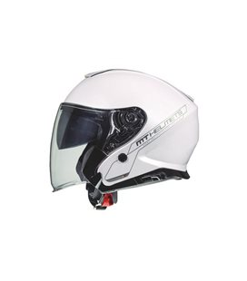 CASCO MT THUNDER 3 SV JET SOLID A0 BLANCO PERLA BRILLO