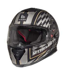 CASCO MT THUNDER 3 SV ISLE OF MAN NEGRO/ORO MATE