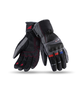GUANTES SD-T25 INVIERNO TOURING MUJER NEGRO/GRIS OSCURO/ROJO/AZUL