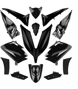 KIT CARENADO YAMAHA TMAX 530 NEGRO BRILLO 2015-16 (14 PIEZAS)