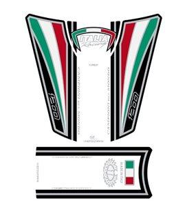 PROTECTOR DEPOSITO 4PCS BLANCO ITALIA DUCATI DIAVEL 1200