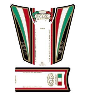 PROTECTOR DEPOSITO 4PCS BLANCO/ROJO ITALIA DUCATI DIAVEL 1200
