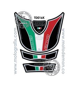 PROTECTOR DEPOSITO 4PCS NEGRO ITALIA DUCATI MULTISTRADA 1200