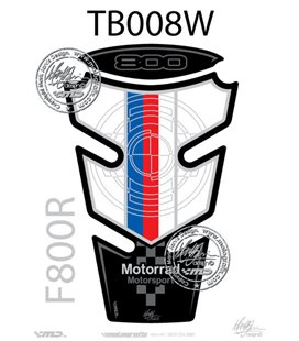 PROTECTOR DEPOSITO 2PCS AZUL/ROJO/BLANCO BMW F800R