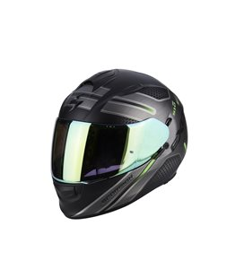 SCORPION EXO 510 ROUTE NEGRO MATE VERDE