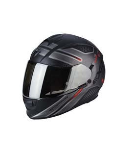 SCORPION EXO 510 ROUTE NEGRO MATE ROJO