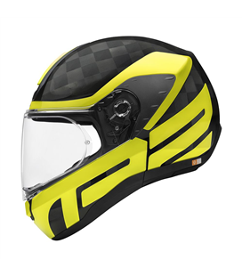 SCHUBERTH R2 CARBON CUBATURE AMARILLO BRILLO