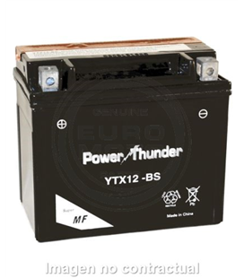 BATERIA POWER THUNDER YTX12-BS