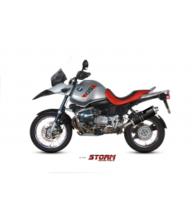 BMW R 1150 GS 1999 - 2003 ESCAPE STORM OVAL INOX NEGRO