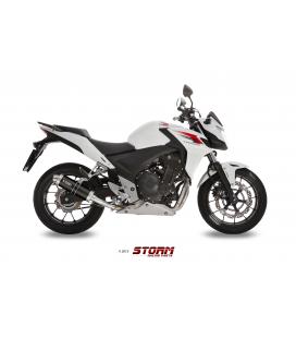 HONDA CB 500 F / X 2013 - 2015 ESCAPE STORM GP INOX NEGRO