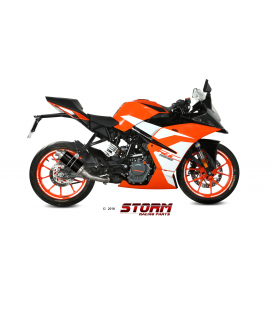 KTM 125 DUKE 2017 - ESCAPE STORM GP INOX NEGRO