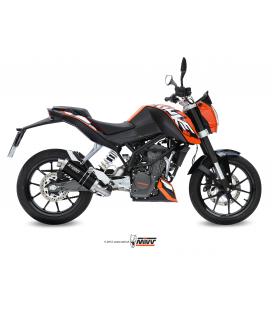KTM 125 DUKE 2011 - 2016 LINEA COMPLETA STORM GP INOX NEGRO