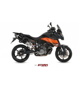 KTM 990 SUPERMOTO SMT 2009 - 2 ESCAPES STORM OVAL INOX NEGRO