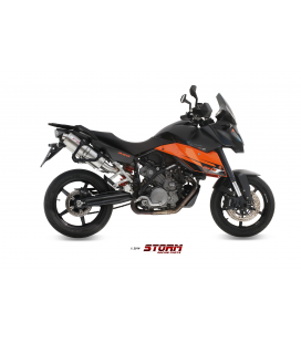 KTM 990 SUPERMOTO SMT 2009 - 2 ESCAPES STORM OVAL INOX