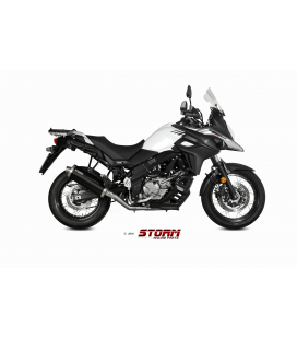 SUZUKI DL V-STROM 650 2017 - ESCAPE STORM OVAL INOX NEGRO