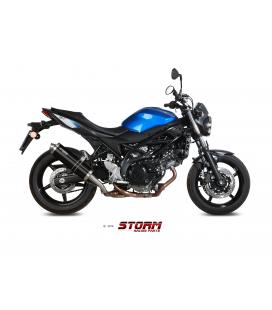SUZUKI SV 650 2016 - ESCAPE STORM OVAL INOX NEGRO
