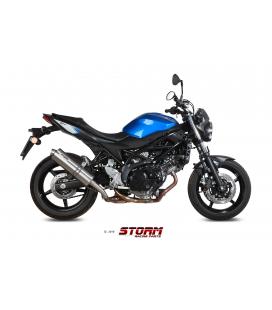 SUZUKI SV 650 2016 - ESCAPE STORM OVAL INOX