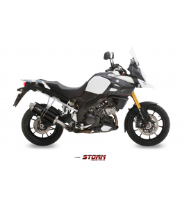 SUZUKI DL V-STROM 1000 2014 - ESCAPE STORM OVAL INOX NEGRO