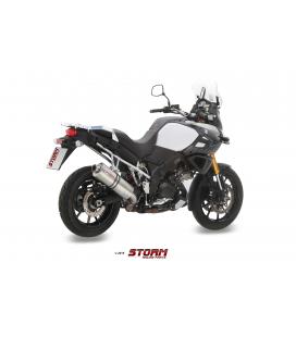 SUZUKI DL V-STROM 1000 2014 - ESCAPE STORM OVAL INOX