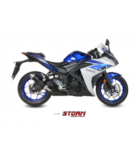 YAMAHA YZF 1000 R1 2015 - ESCAPE STORM GP INOX NEGRO
